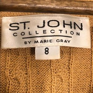 St. John Sweaters - ST. JOHN Collection Cable Knit Belted Cardigan